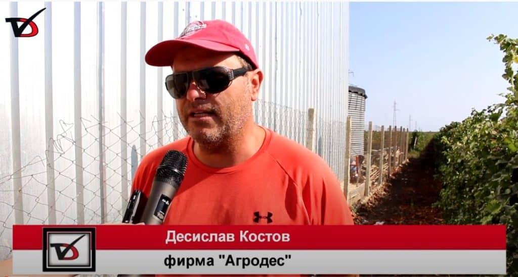 Кадър от интервю на Д. Костов пред Добруджа ТВ за Изба Калиакра